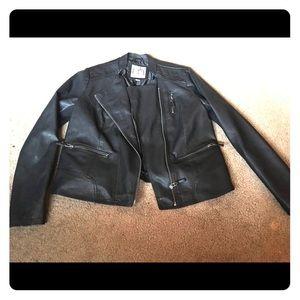 Faux later Biker style jacket